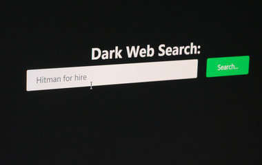 Underground internet concept - Dark web search engine used to find a hitman for hire, check my portfolio for other contraband