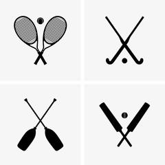 Tennis, cricket, field hockey, rafting