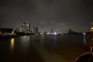 Panorama am Fluss Chao Phraya in Bangkok, Thailand