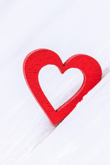 Happy Valentine's Day. Red heart on a white background