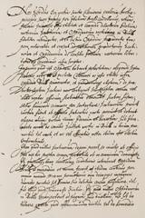 Alte Urkunde. Handschrift. Hintergrund.