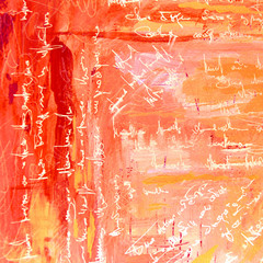 pink abstract painting with text , illustration