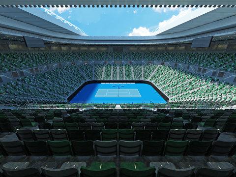 3D render of beutiful modern tennis grand slam lookalike stadium
