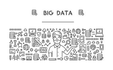 Vector line concept for big data