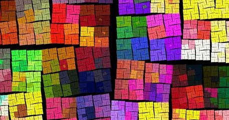 fractal colorful cubes
