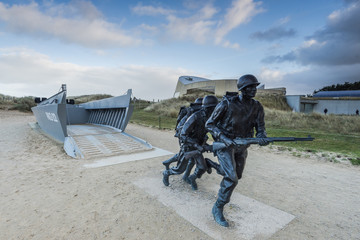 Utah Beach invasion landing memorial,Normandy,France