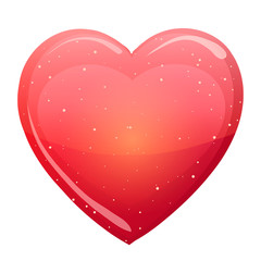 Vector illustration. St. Valentine's Day. Red heart on a white background.