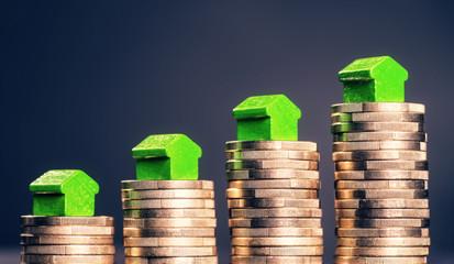 Steigende Preise für Immobilien Fototapete