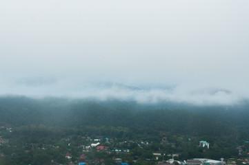 fog cover the mountain