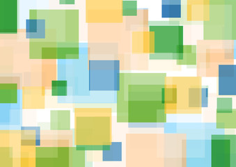 Colorful squares abstract geometric pattern