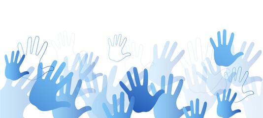 mani, pace, comunità colori