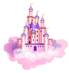 Pink princess castle.