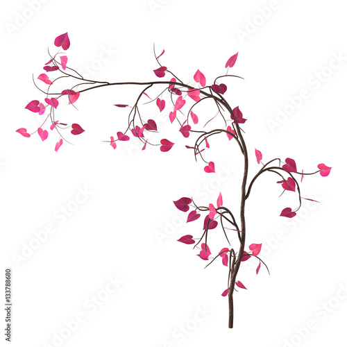 Love tree with pink heart shaped leaves isolated on white love tree with pink heart shaped leaves isolated on white background decorative element mightylinksfo