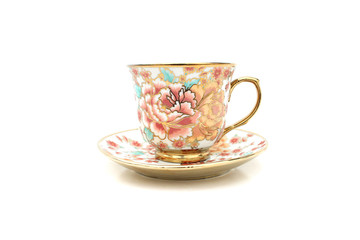 Coffee cup floral patterns