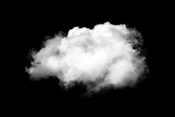 Aluminium Prints Heaven white clouds on black background