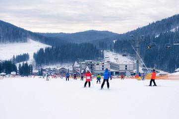 The holiday season in the ski resort Bukovel