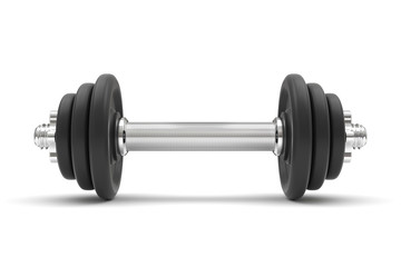 dumbbell on a white background. 3D illustration