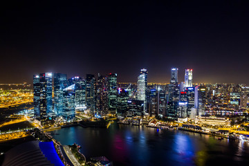 Financial district in Singapore