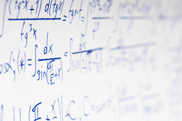 Handwritten calculation of higher mathematics as a background
