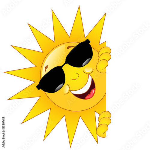 """Sonne mit Brille"" Stock image and royalty-free vector ..."