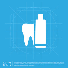 toothpaste and tooth icon
