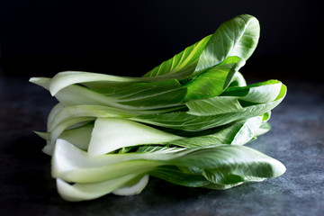 Fresh Bok Choy Leaves