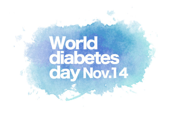 World diabetes day - over aquarelle art