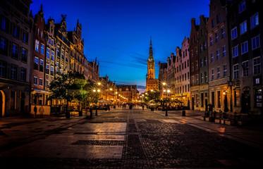 Gdańsk o zachodzie słońca
