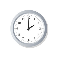 Clock symbol icon on white