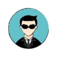 male spy icon image vector illustration design