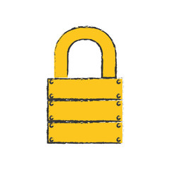 safety lock icon image vector illustration design