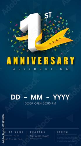 Anniversary Invitation Card Template Design Stock Image And