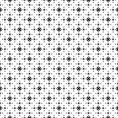 Vector monochrome seamless pattern, simple minimalist geometric background, tiny cruciate figures, black & white, different size. Repeat abstract texture. Design for prints, decor, digital, textile