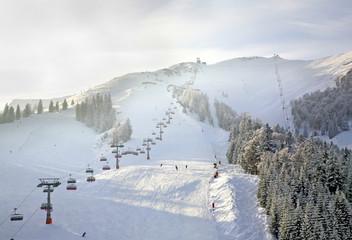 Ski resort Christlum in Tyrol. Austria