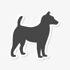 Dog Icons set - vector Illustration sticker