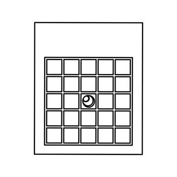 bingo card isolated icon vector illustration design