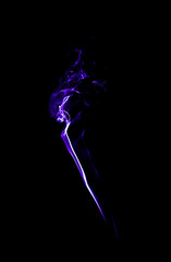 Purple light smoke background.