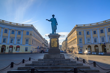 Duke Richelieu Statue in Odessa. Wall mural