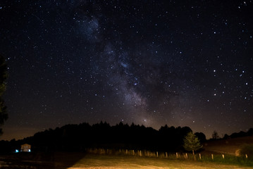 Voie lactée, paysage, nuit étoilée