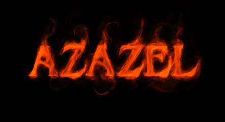 Azazel (flaming word on black)