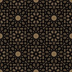 Seamless islamic Moroccan pattern. Arabic geometric ornament