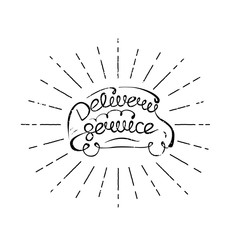 delivery service lettering