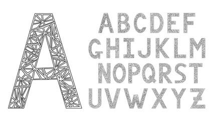 English alphabet. Modern design font.