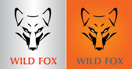 Fox. Fox Head. Vector image of an fox face design on various background