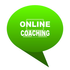 online coaching green bubble icon