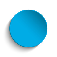 Blue button on white background
