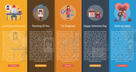 Valentine Vertical Banner Concept