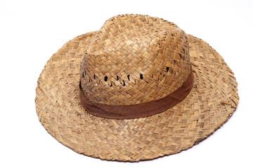 Old Yellow wicker straw hat