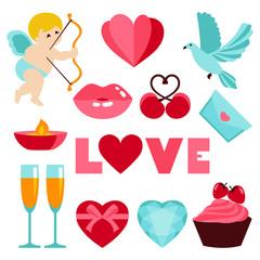 Vector illustration of Valentines day symbol