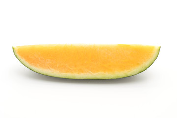 fresh yellow watermelon on white